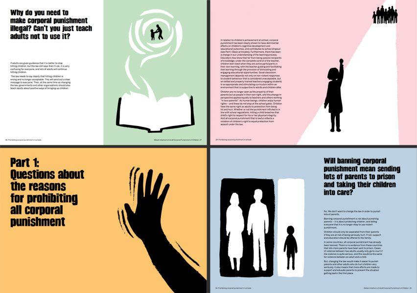 Illustrations for leaflet against corporal punishment