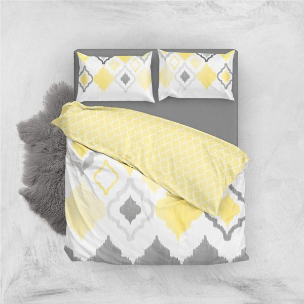 Yellow Grey Quatrefoil Coordinates