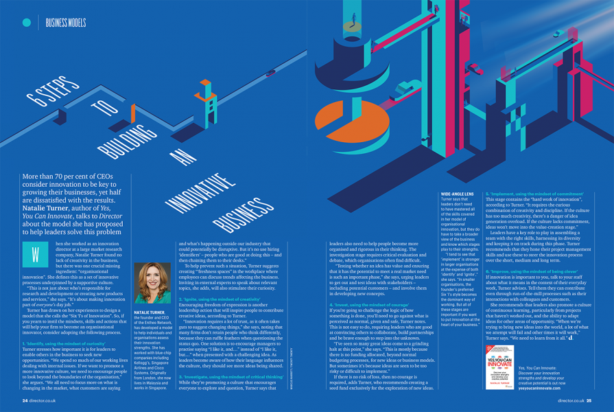 Director magazine - Innovative Business spread