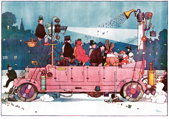 Cinecar. Courtesy The William Heath Robinson Trust
