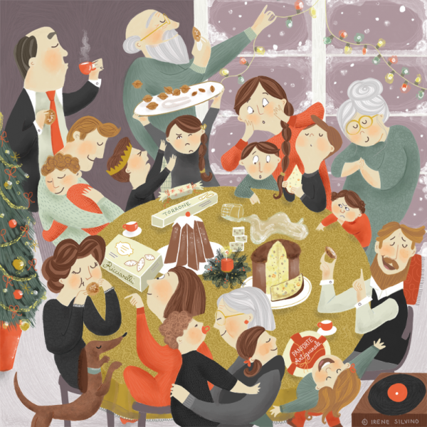 Festive Dinner - Illustrated by Irene Silvino