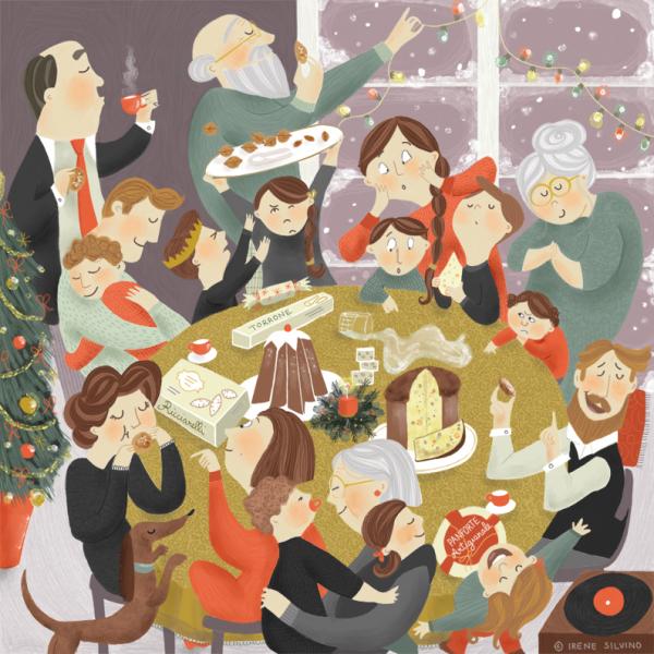 Festive Dinner - Illustrated by Irene Silvino