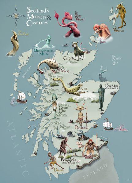 SCOTTISH MONSTER MAP