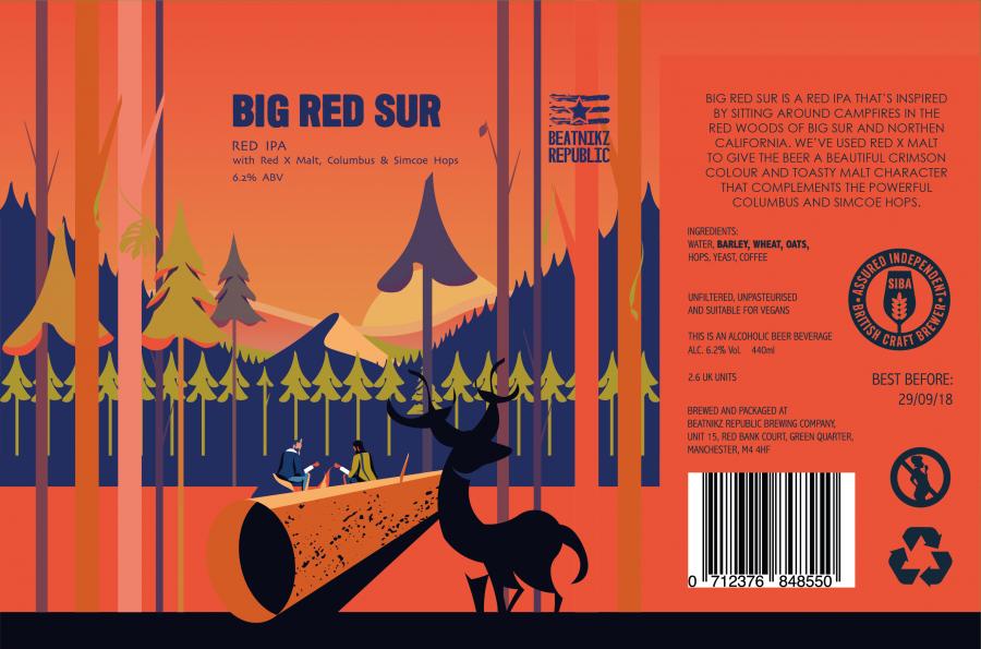 Beatnikz Republic - Big Red Sur 440ml can