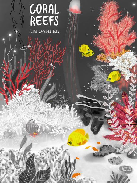 Coral Reefs in danger - Poster - Illustrated by Irene Silvino