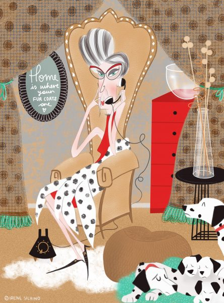 101 Dalmatians - Cruella De Vil - Illustrated by Irene Silvino