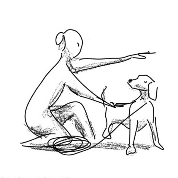 Simple linework Dog training manual