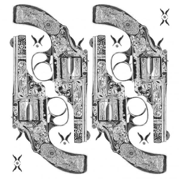 Insight51 T-Shirt Print Pistol Gun