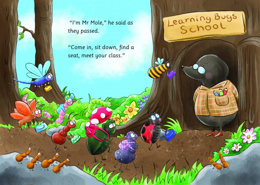 Mr Mole - Learning Bugs School