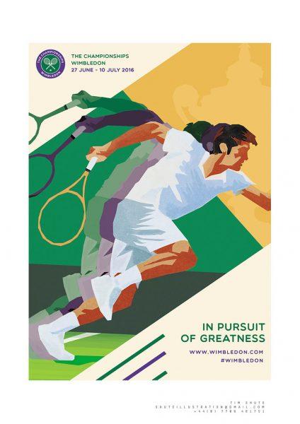 Wimbledon Poster Design - Finalist