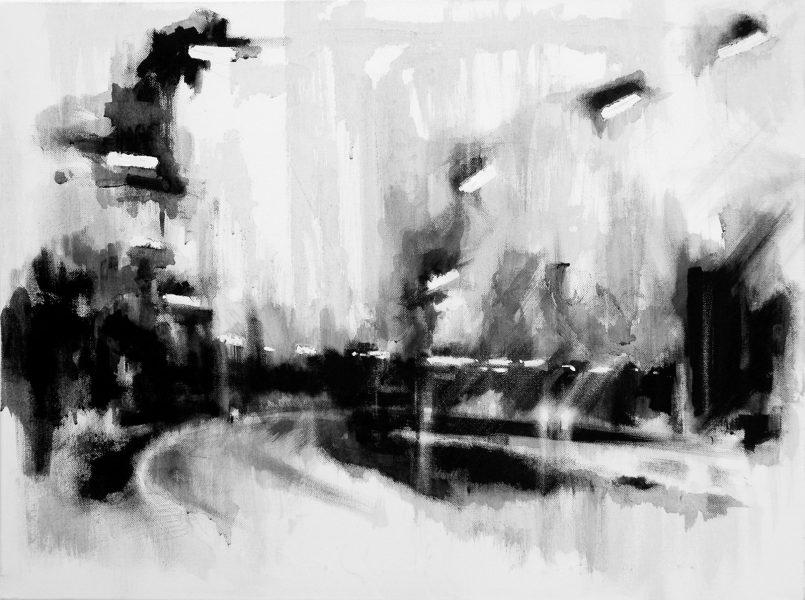 M25 night rain