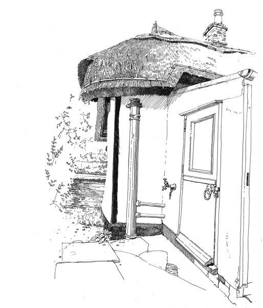 Cottage back door