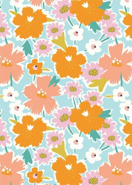 Seamless Festival Flowers Pattern