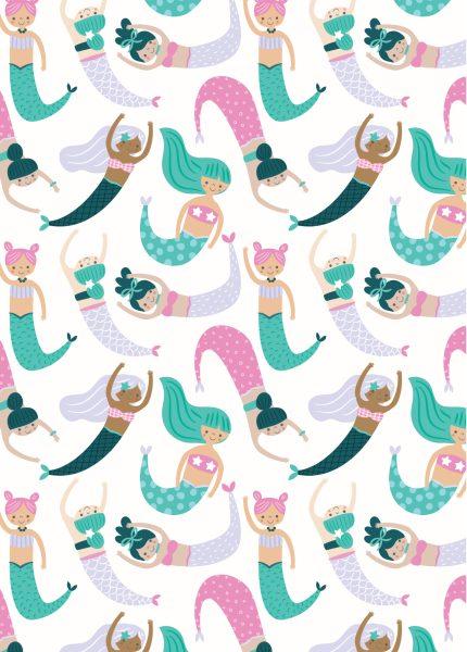 Seamless Mermaid Pattern