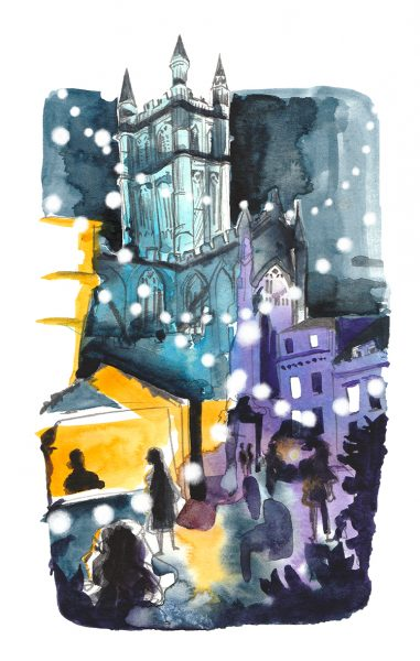 Painting of Bath Abbey
