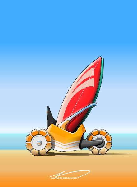 Autonomous surfboard carrier concept