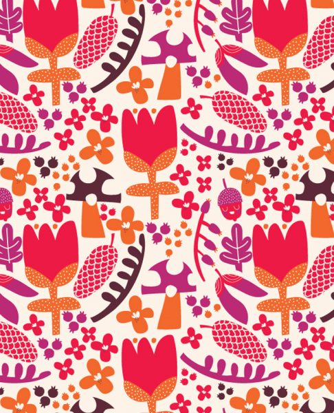 Autumn Flowers Pattern Design