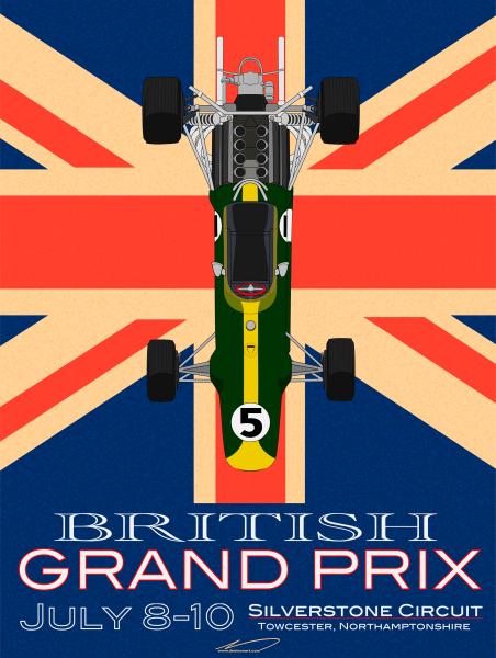 British Grand Prix Poster