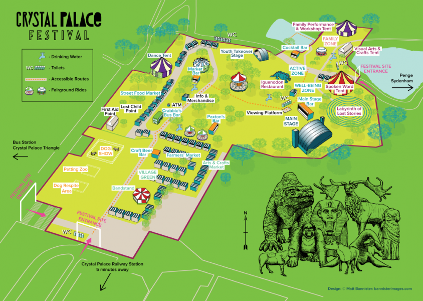 Crystal Palace Festival Map 2018