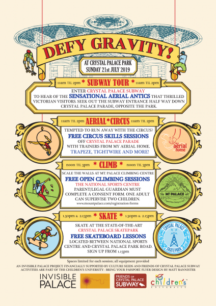 Defy Gravity - Promotional graphics for community event