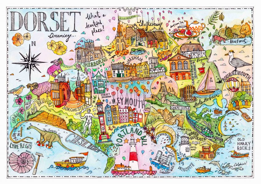 Dorset illustrated map