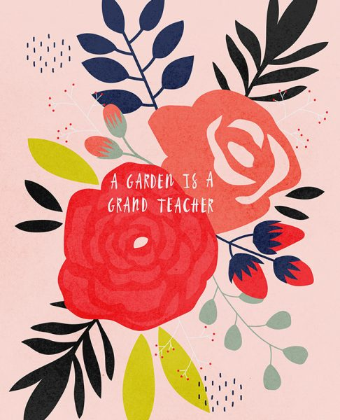 A Garden Is A Great Teacher Journal Design