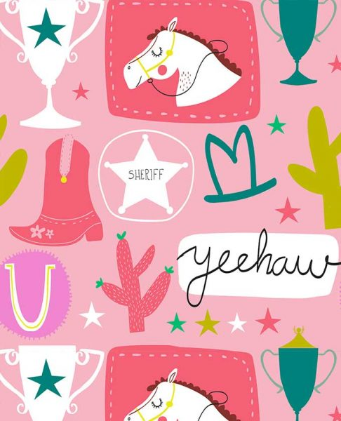 Howdy Cowgirl Pattern Design