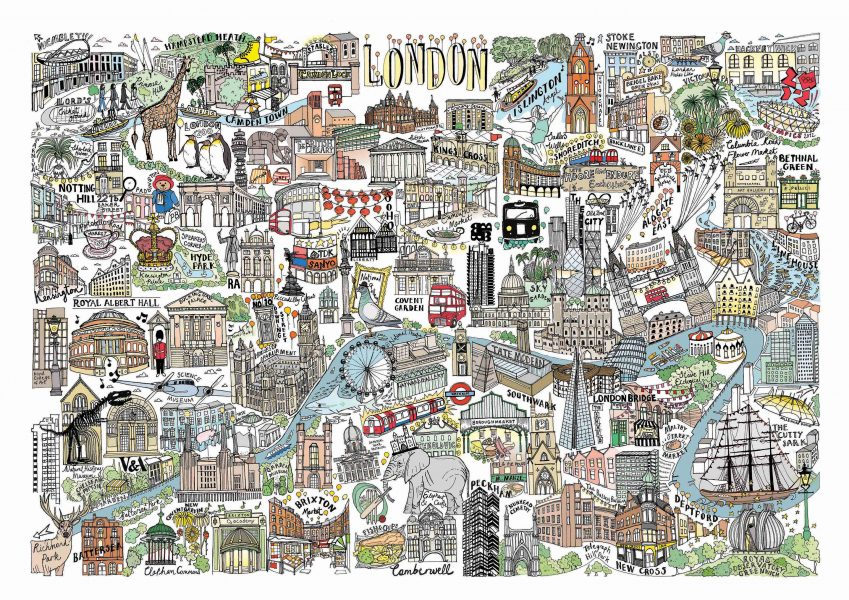 Personal project - Illustrated map of London
