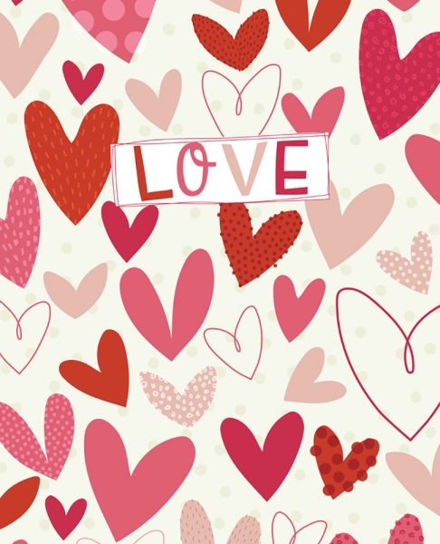 Love Hearts Pattern Design