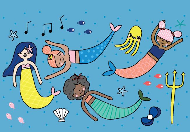 Magical Oceans Mermaids Spread