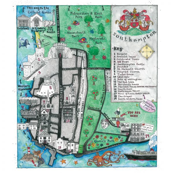 Map of Southampton for The Docks Coffee House