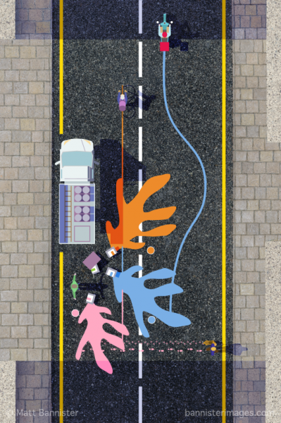 Paint In The Street - Selected for AOI 2019 Poster Prize for Illustration