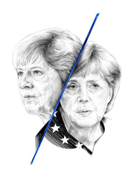Merkel and May - Politico