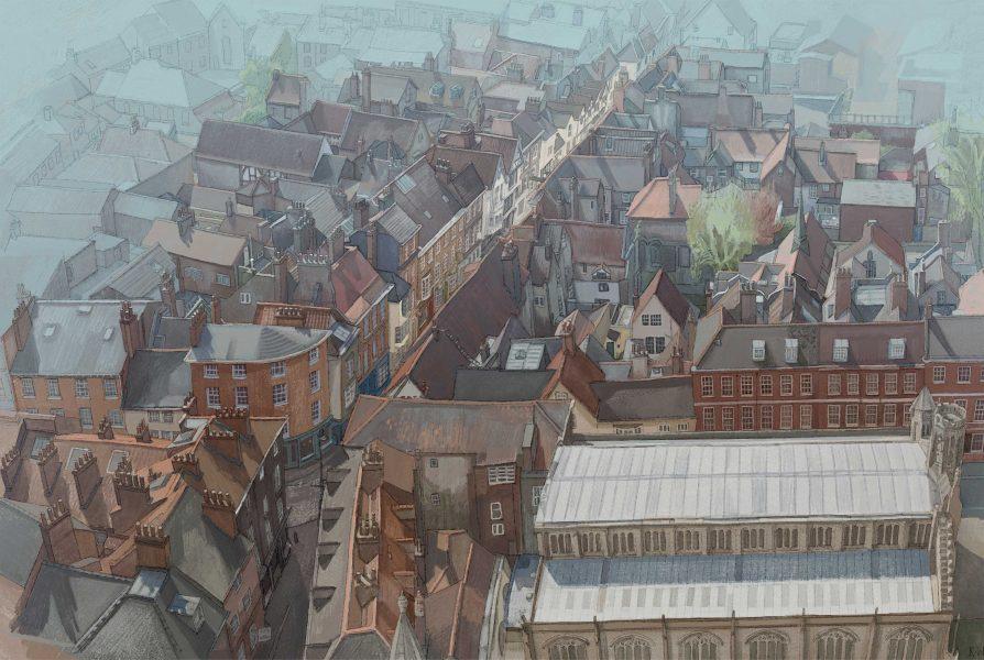 Stonegate, York. A bird's eye view.