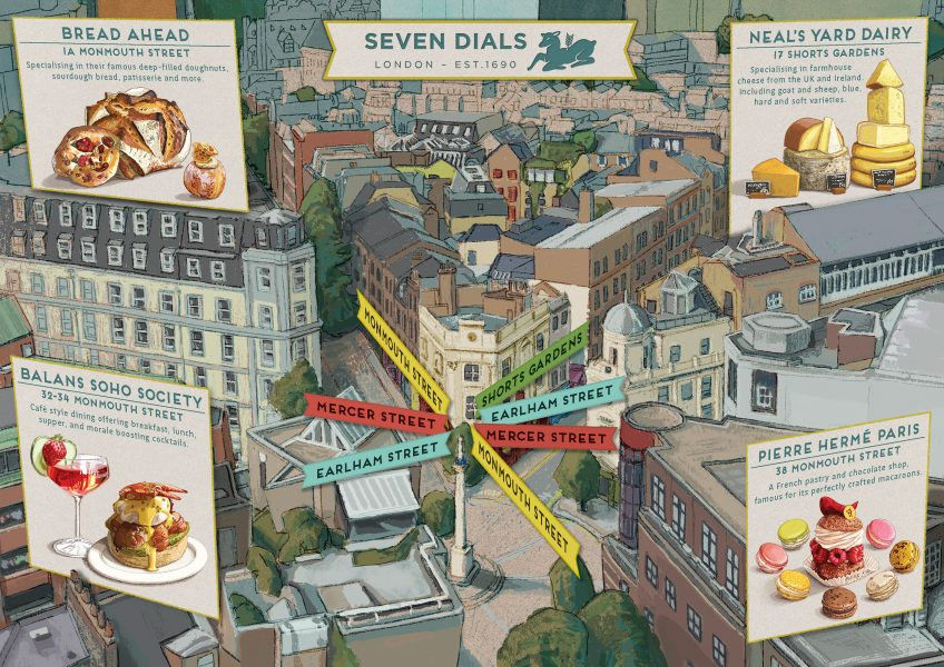 Seven Dials Food Map