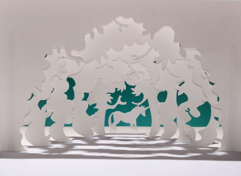 Unicorn in Forest Kirigami
