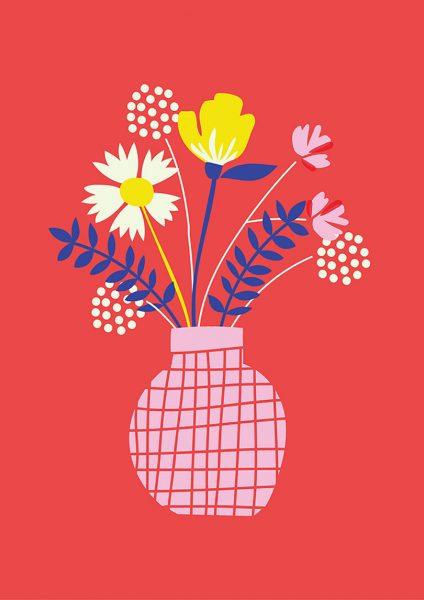 Vase Of Flowers Illustration