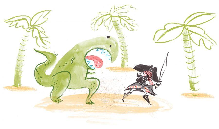 Dino vs Pirate