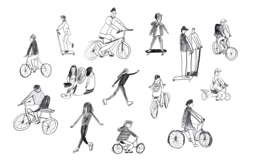 People on wheels