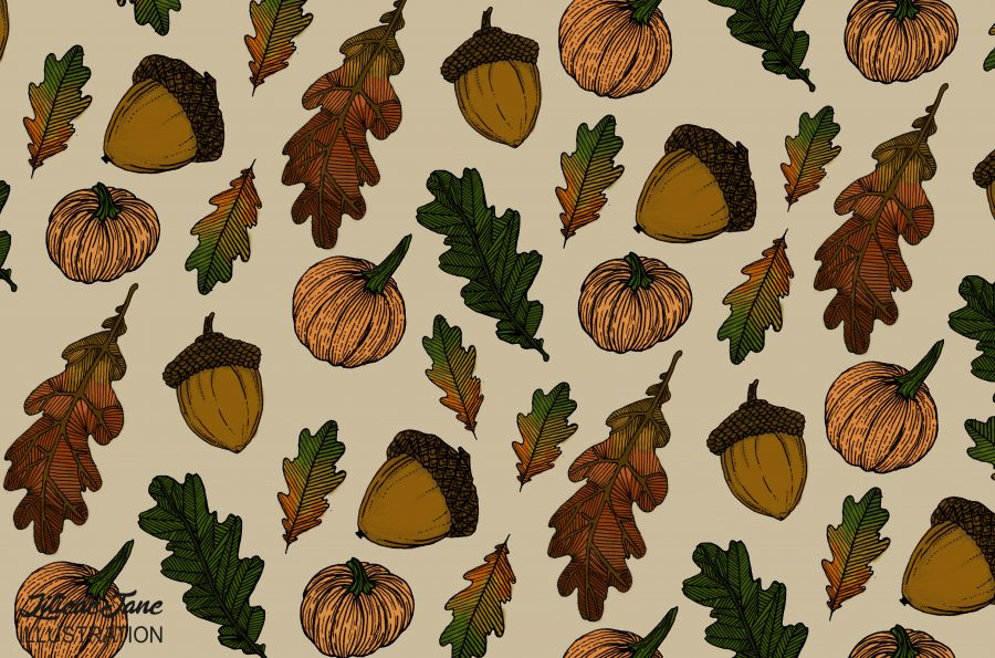 Autumn themed pattern design