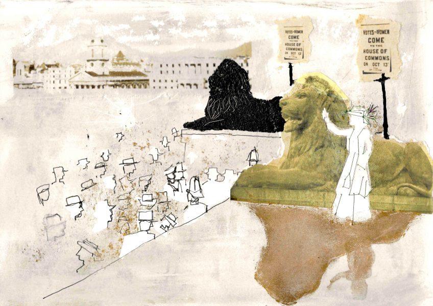 sylvia pankhurst at trafalgar square