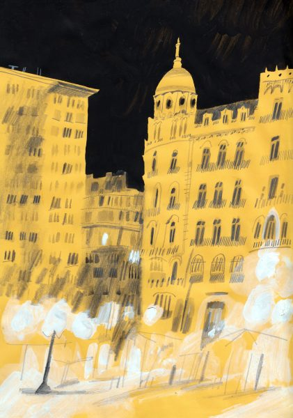 Valencia yellow night