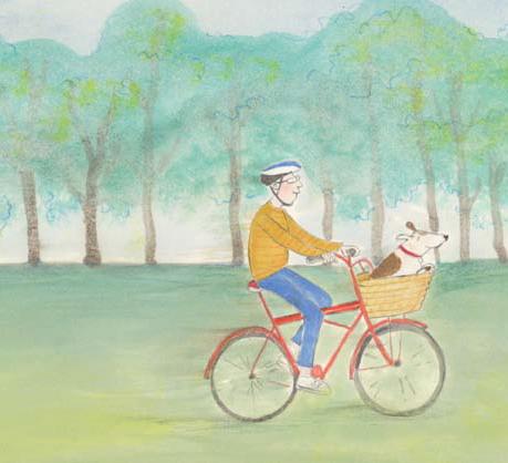 Rupert on bike