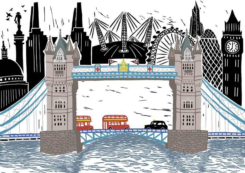 Tower Bridge & London Scene