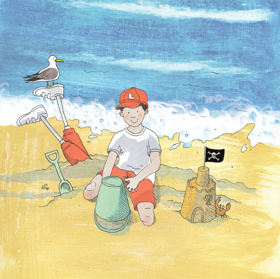 Louie at the Beach