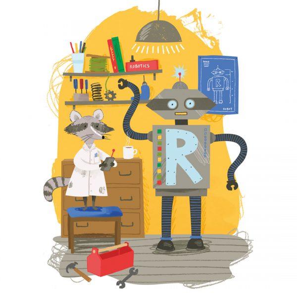 Rudy the Raccoon Robot Engineer