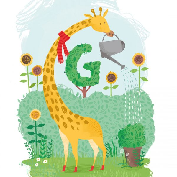 Gabriel the Gardening Giraffe