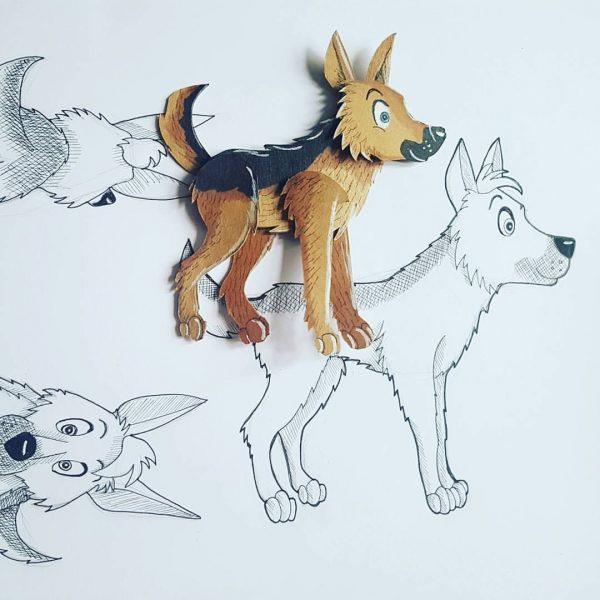 Police Dog Jack design character