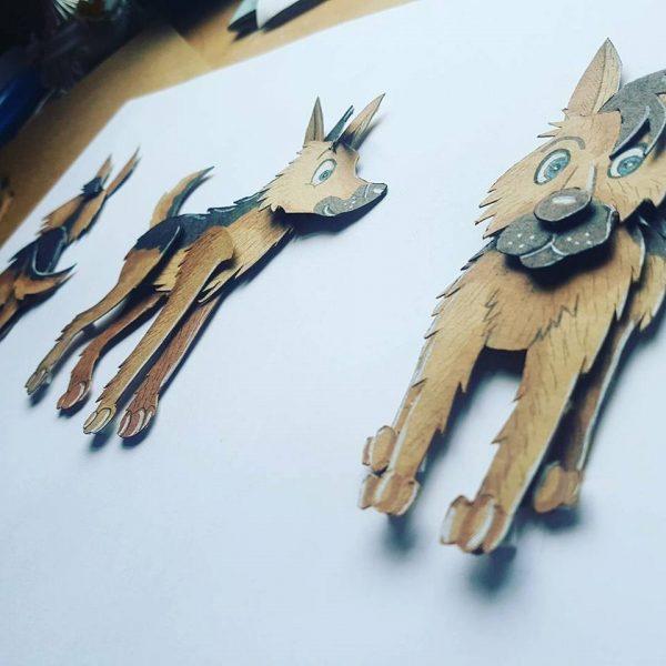Police dog Jack sketch designs