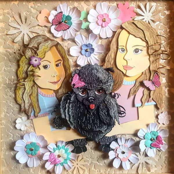 Girls and their Poodle